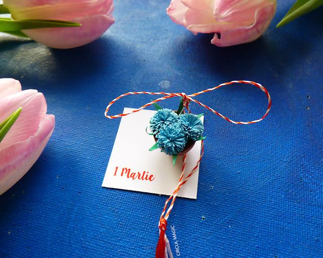 Martisoare Quilling 2016 Flori Primavara Circul Magic Handmade