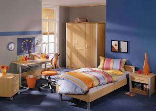 cuarto azul para jovencito