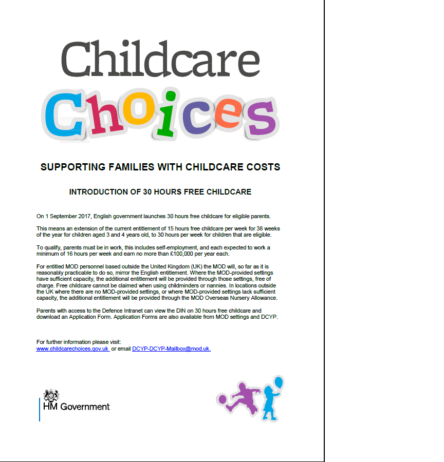 Ouston Hive Childcare Choices 30 Hours Free