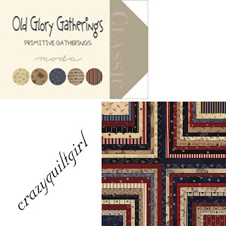 Moda OLD GLORY GATHERINGS Quilt Fabric by Primitive Gatherings