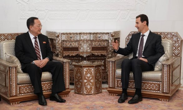 الرئيس الأسد يستقبل وزير خارجية كوريا الديمقراطية الشعبية ري يونغ هو والوفد المرافق
