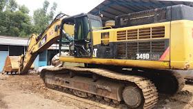 Dijual Excavator Caterpillar 349 DL Tahun 2014