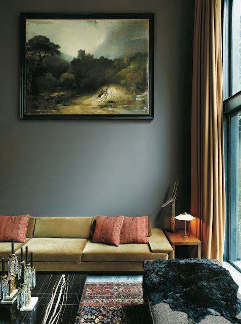 Dunkle Eleganz eines Hotels - Einrichten und Wohnen in abgetönten Farben und Gründerzeit Design