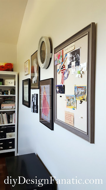gallery wall, farmhouse style, cottage, office, diy, diyDesignFanatic.com