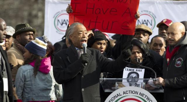 Reverend Al Sharpton anti trump protest
