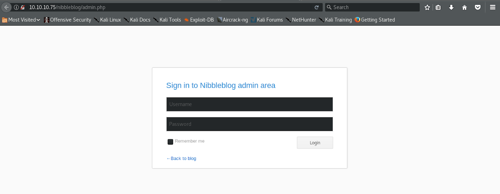 Hack The Box: Nibbles | kphongag's blog
