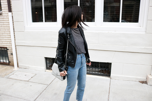 How to wear a leather jacket casual outfit