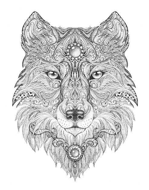 Wolf Adult Colouring Page  Colouring In Sheets  Art  Craft  Art  Supplies