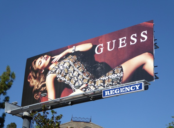 Guess FW 2015 dress billboard
