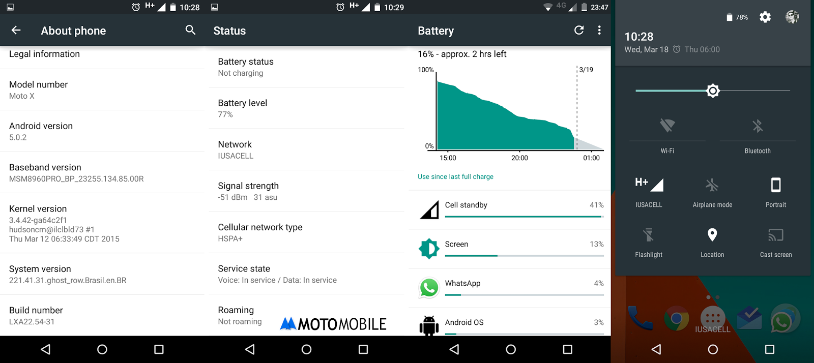 Moto X Lollipop Update
