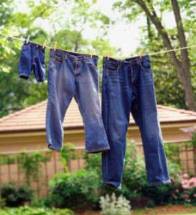 Pantalones vaqueros lavados
