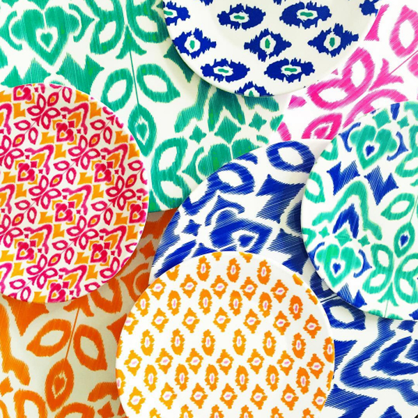 ... of bright color on the patio dining table thanks to some melamine plates I picked up in the Bullseye\u0027s Playground section dollar section of Target.  sc 1 st  Blue i Style & mood board monday Drawing Backyard Inspiration from a Favorite ...