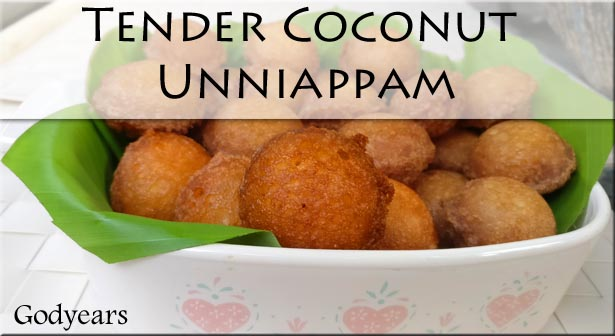 Recipe - Tender Coconut Unniappam