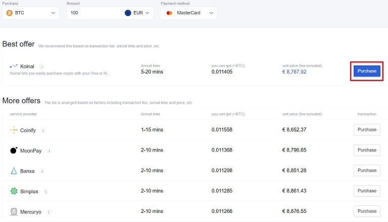 comprar Bitcoin en Okex para intercambiarlo por la criptomoneda CRYPTO.COM COIN (CRO)