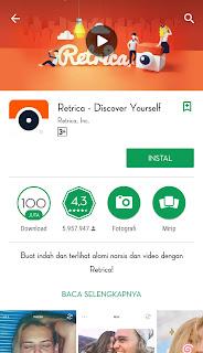 Retrica adalah sebuah aplikasi yang bisa membuat fotomu lebih keren banyak filter-filter bagus
