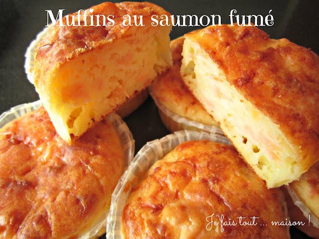 Muffins salés au saumon fumé et ciboulette