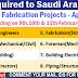 Job Vacancies in Saudi Arabia - Piping & Fabrication Projects - Apply Now!