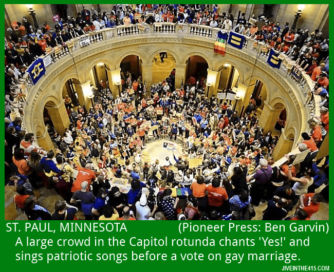 The Rotunda of Minnesota's state capitol building prior to the historic vote on gay marriage.