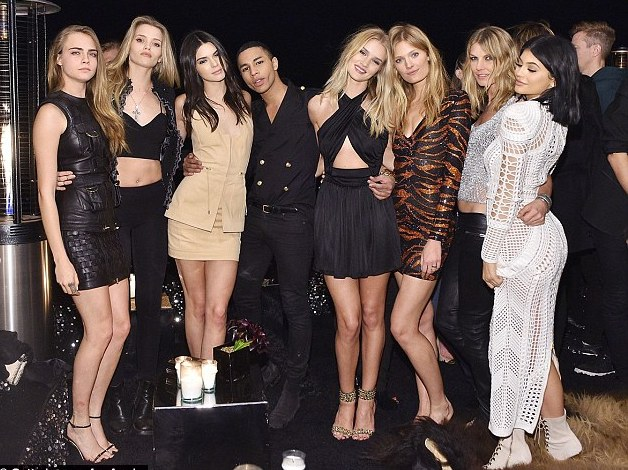 Kendall Jenner & Kylie Jenner join Jennifer Lopez & Cara Delevingne at Star studded Balmain Olivier party, Rosie Huntington Whiteley at Balmain birthday party