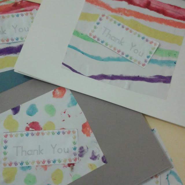 Easy rainbow thank you cards