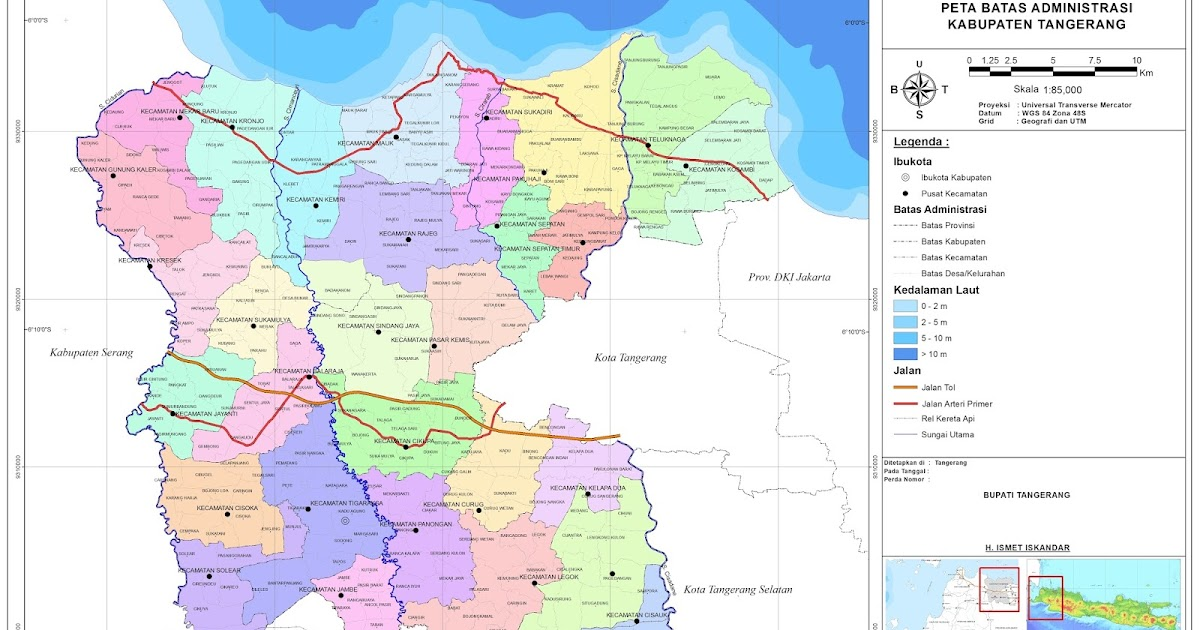 sampah: peta administrasi wilayah kabupaten tangerang