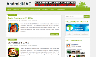 AndroidMag Free Blogger Template
