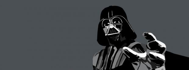 faceboook timeline cover darth vader force grip drawing