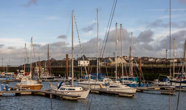Photo of a sunny interval on Saturday at Maryport Marina
