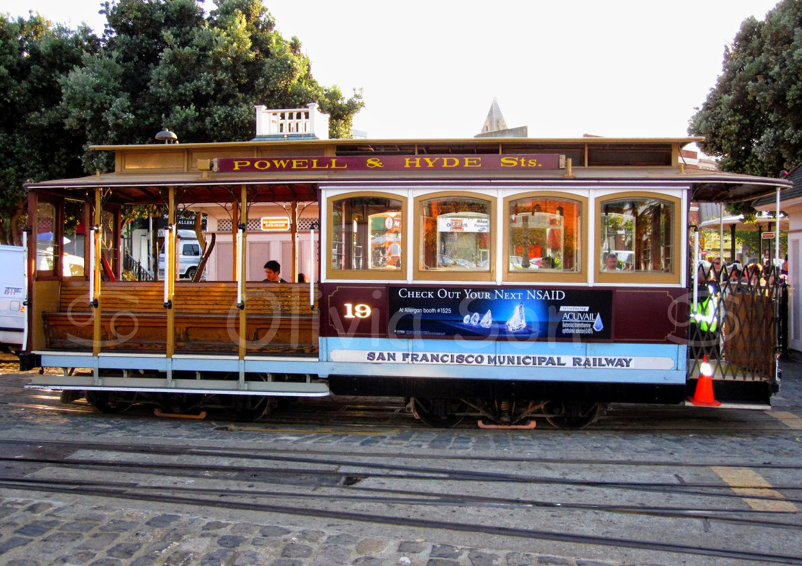 cable car san francisco, californie, usa