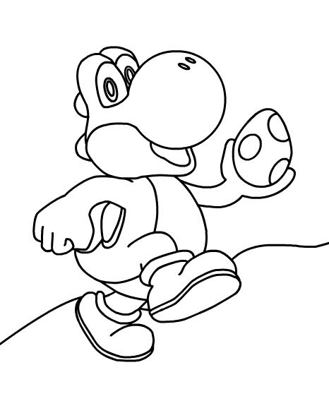 Desenhos Do Yoshi Para Colorir
