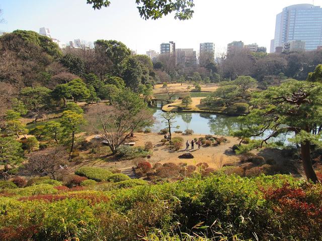 Vista general de los jardines Rikugien (Tokyo)