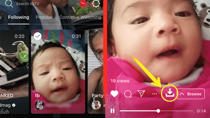 Cara Mudah Download Video Di Aplikasi IGTV