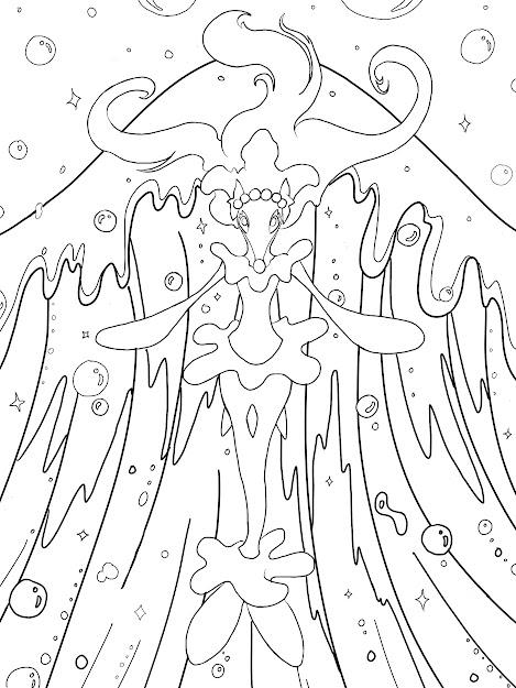 Image Of Primarina Printable Pokemon Colouring Page