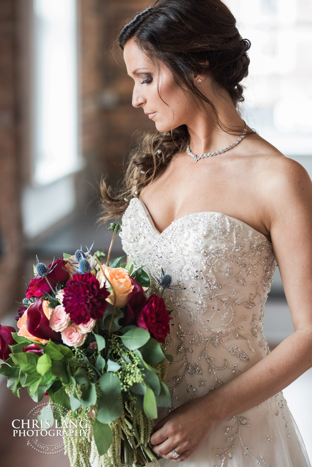 bridal bouquet - bridal ideas - wedding dress - bride - wilmington nc wedding photography -  lifestyle wedding photography