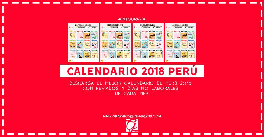 calendario 2018 gratis de peru con feriados