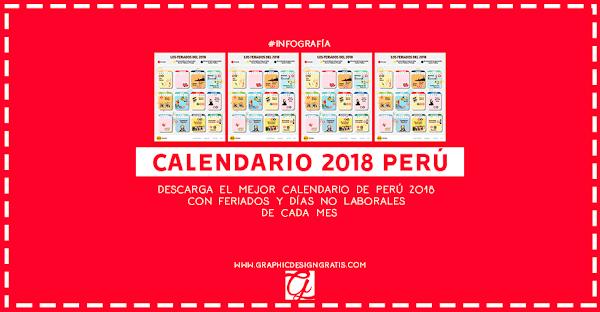 Calendario 2018-2019 de perú con feriados para imprimir gratis