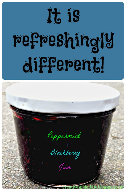 peppermint blackberry jam It is refreshingly different!