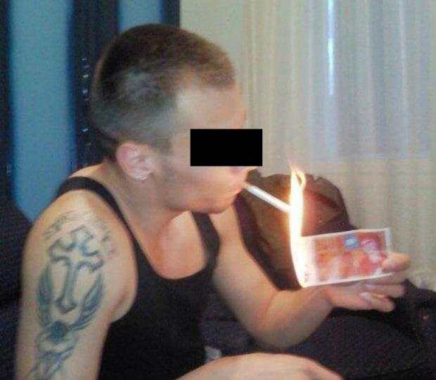 Bild des Tages - Zigarettenanzünder makedonischer Art