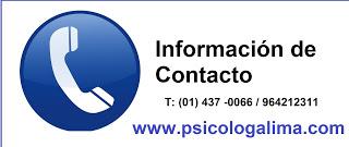 Información de contacto psicólogos lima peru san borja