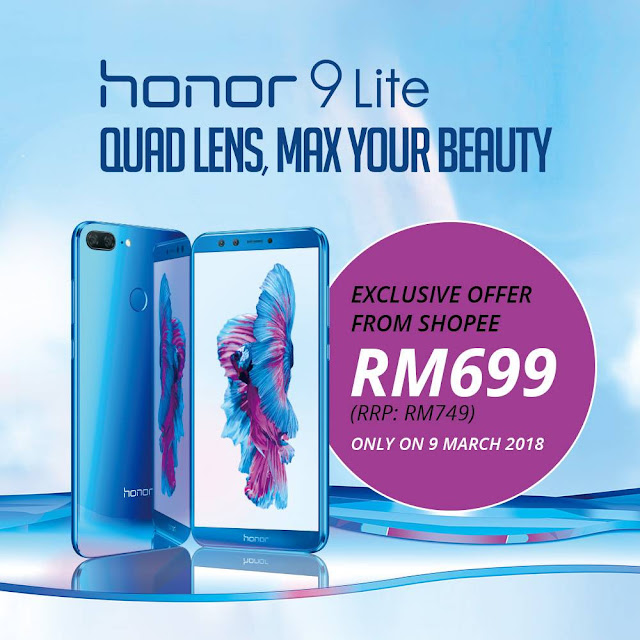 KERJASAMA SHOPEE DAN HONOR BAGI PELANCARAN EKSKLUSIF HONOR 9 LITE, SHOPEE, HONOR 9 LITE,