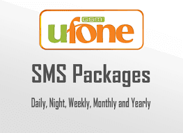 UFONE SMS PACKAGES 2019 DAILY, 3 DAYS, 15 DAYS WEEKLY AND MONTHLY
