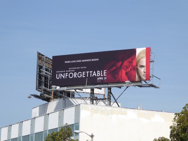 Unforgettable movie billboard
