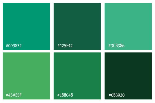 Paletas palettes inspiraci n color del a o 2013 subcutaneo creative - Colores verdes azulados ...