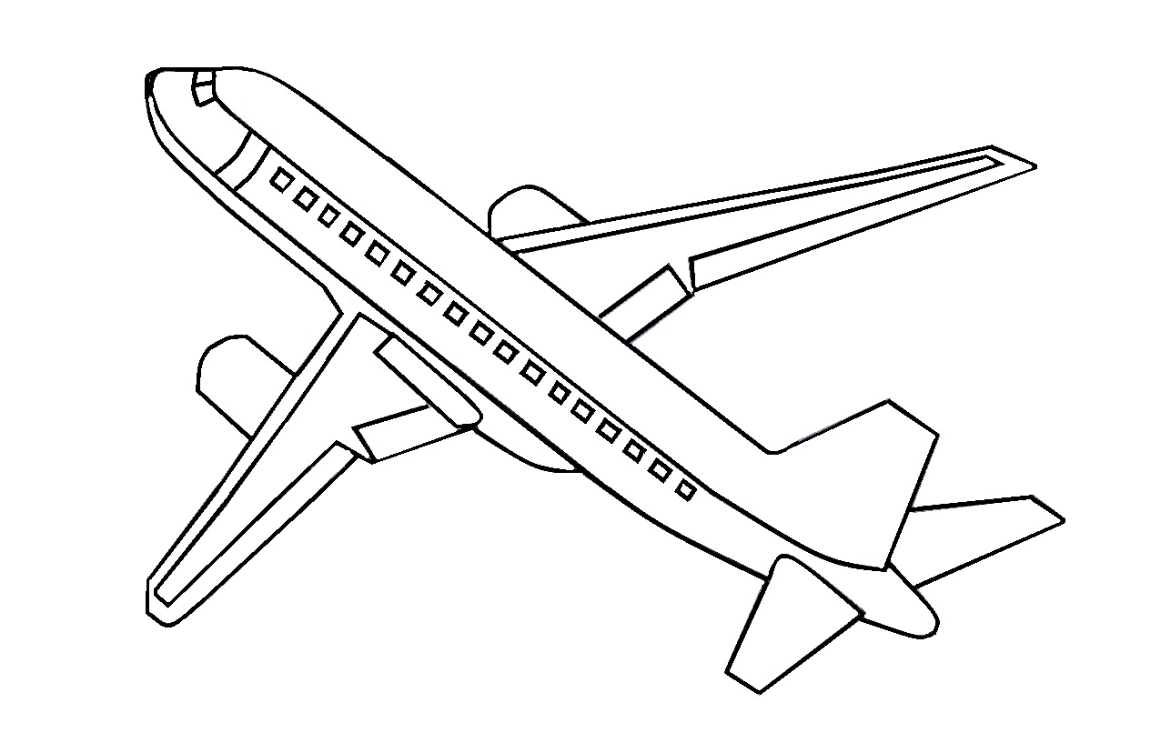 15 Gambar Mewarnai Pesawat Terbang Untuk Anak PAUD dan TK