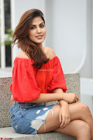 Rhea Chakraborty in Red Crop Top and Denim Shorts Spicy Pics ~  Exclusive 023.JPG