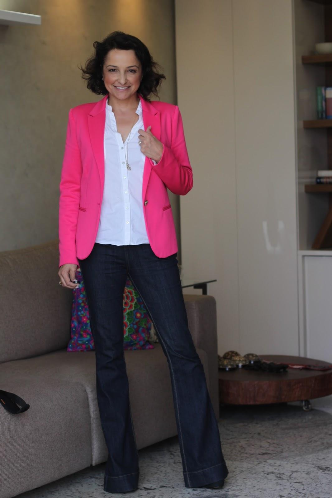BRINCANDO DE MODINHA: Como Usar Blazer Rosa