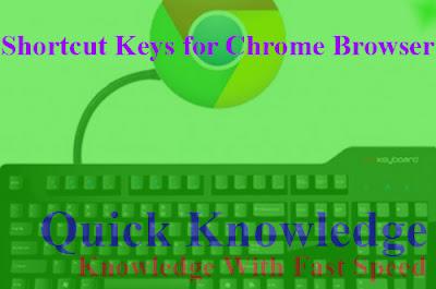 Shortcut Keys for Chrome Browser