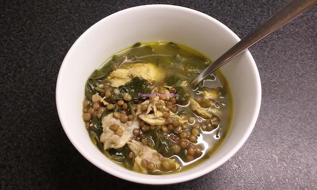 Zuppa detox con lenticchie, pollo e spinaci - Lentil, chicken and spinach detox soup