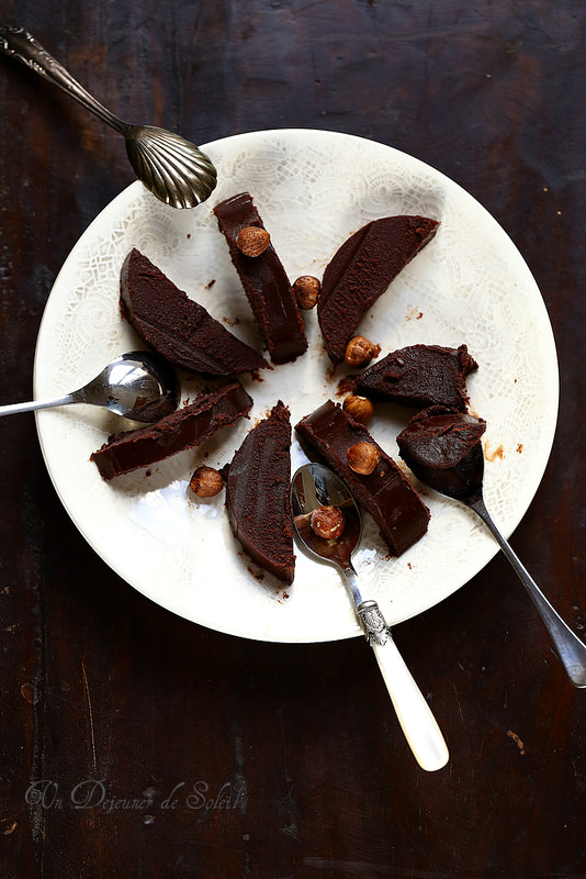 Fondant au chocolat et aux marrons (sans cuisson)