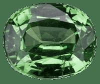 uvarovita piedra preciosa oval | foro de minerales